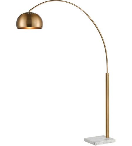 Dimond lighting d3591 solar flair 77 inch aged brass and white marble floor lamp portable light