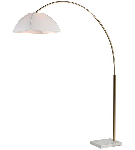Dimond Lighting D3593 Helianthus 80 inch Aged Brass and White Marble Floor Lamp Portable Light photo