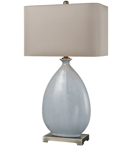 Dimond Lighting D3620 Bluelace 32 inch Light Blue Crackle with Pewter Table Lamp Portable Light photo
