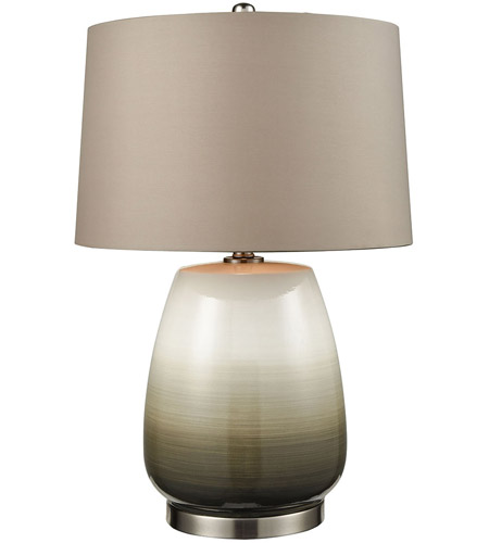 Dimond Lighting D3622 Salton City 25 Inch Grey Ombre With Nickel Table Lamp  Portable Light