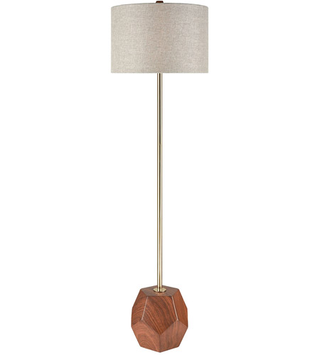 Dimond Lighting D3628 Hot Spot 62 inch 150 watt Mahogany Wood Tone/Antique Gold Floor Lamp Portable Light photo
