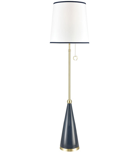 Dimond Lighting D3635 Kentucky Downs 67 inch Blue Ceramic with Gold Floor Lamp Portable Light photo