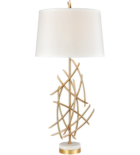 Dimond Lighting D3648 Parry 36 Inch Gold Plated Metal And White