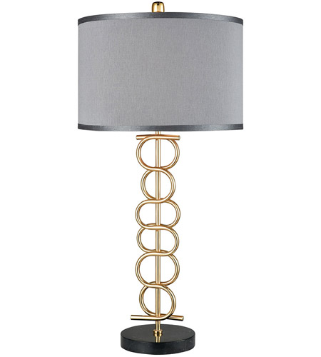 Dimond Lighting D3650 Liaison 32 Inch Gold Plated Metal And Black