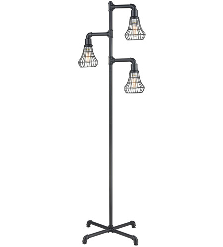 Dimond Lighting D3783 Magnificent Mile 70 inch 60 watt Pewter Floor Lamp Portable Light photo
