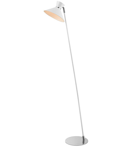 Dimond Lighting D3789 Snow Angel 56 inch White and Chrome Floor Lamp Portable Light photo