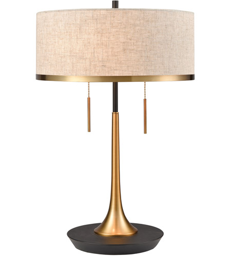 Dimond Lighting D4067 Magnifica 22 inch 60 watt Aged Brass with Black Table Lamp Portable Light photo