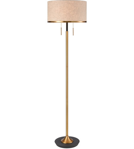 Dimond Lighting D4068 Magnifica 63 inch 100 watt Aged Brass with Black Floor Lamp Portable Light photo
