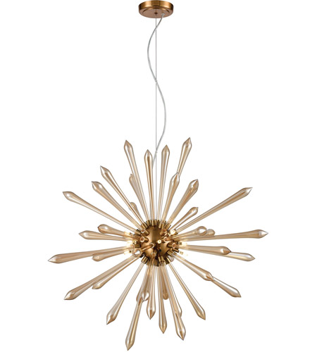 Dimond Lighting Aged Brass Glass Pendants