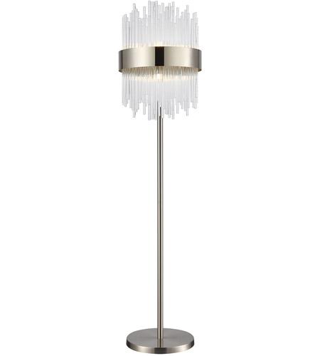 Dimond Lighting D4147 Such Teeth 64 Inch 40 Watt Satin Nickel Floor Lamp Portable Light