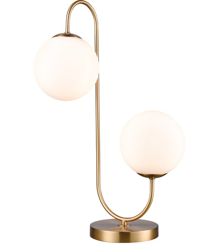 Aged Brass Moondance Table Lamps