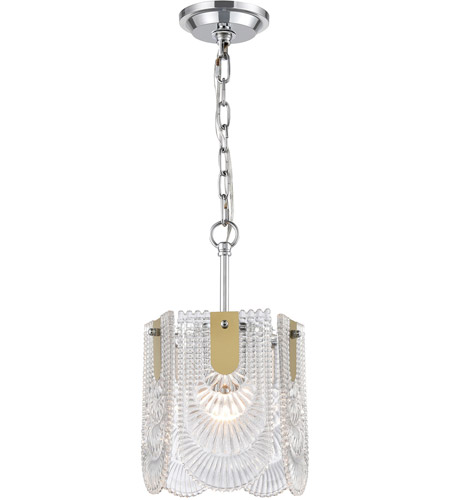 Dimond Lighting D4176 Darjeeling 1 Light 9 inch Polished Chrome Mini Pendant Ceiling Light, Small photo