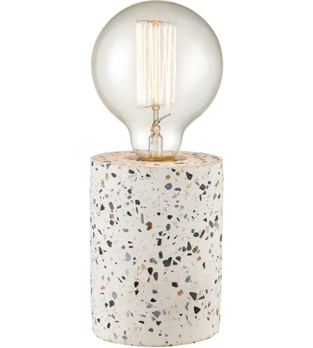 Terraz 9 Inch 60 Watt Grey White Table Lamp Portable Light