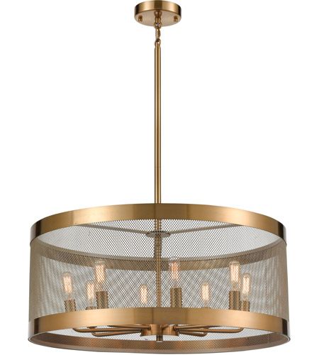 Dimond Lighting D4333 Line in the Sand 8 Light 24 inch Satin Brass/Antique Silver Chandelier Ceiling Light photo