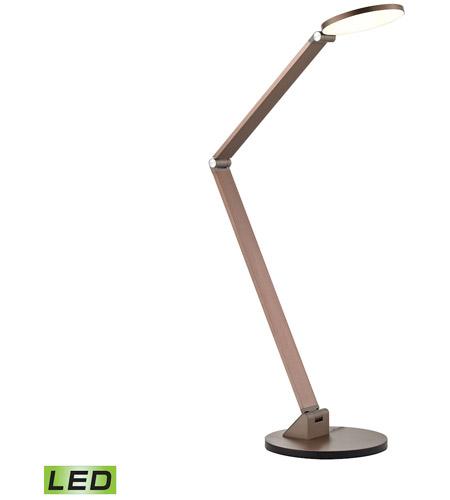 Mono Disc Elbow 19 Inch 10 Watt Anodized Rose Gold Desk Lamp Portable Light