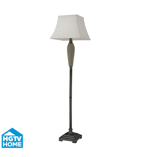 Dimond Lighting HGTV126 HGTV Home 63 inch 150 watt Glazed W/ Painted Pewter Accents Floor Lamp Portable Light photo