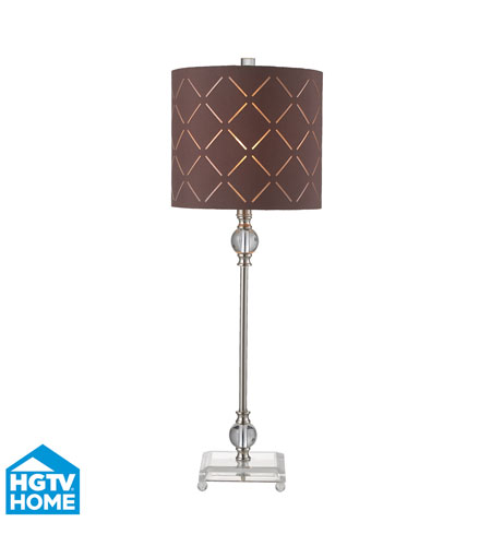 Dimond Lighting HGTV143 HGTV Home 30 inch 60 watt Brushed Steel / Clear Table Lamp Portable Light photo