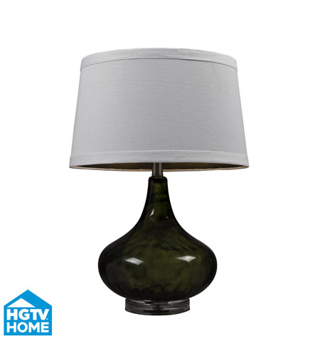 Dimond Lighting HGTV149 HGTV Home 24 inch 150 watt Moss Smoked Table Lamp Portable Light photo