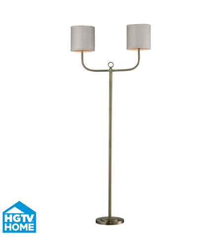 Dimond Lighting HGTV257BR HGTV Home 68 inch 60 watt Antique Brass Floor Lamp Portable Light photo