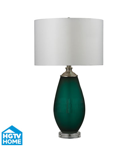 Dimond Lighting HGTV288 HGTV Home 27 Inch 100 Watt Jade Green With Acrylic  Base Table Lamp