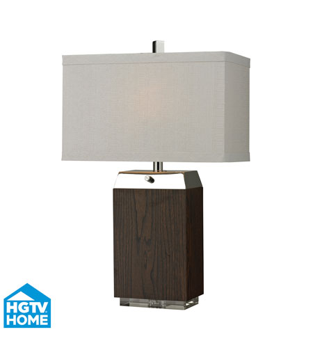 Dimond Lighting HGTV312 HGTV Home 27 inch 60 watt Dark Wood Veneer / Acrylic / Silver Plated Table Lamp Portable Light photo