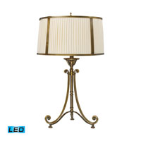 Dimond Lighting Williamsport 1 Light Table Lamp in Vintage Brass Patina 11052/1-LED