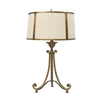 Dimond Lighting Williamsport 1 Light Table Lamp in Vintage Brass Patina 11052/1