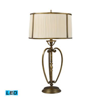 Williamsport 31 inch 13.5 watt Vintage Brass Patina Table Lamp Portable Light