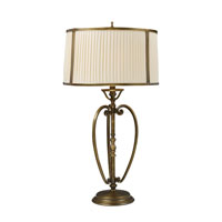 Williamsport 31 inch 150 watt Vintage Brass Patina Table Lamp Portable Light