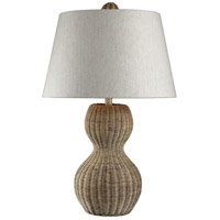 Dimond Lighting Sycamore Hill 1 Light Table Lamp in Light Rattan 111-1088