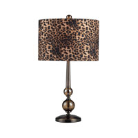 Dimond Lighting Alliance 1 Light Table Lamp in Coffee Plating And Smoked Glass 111-1097