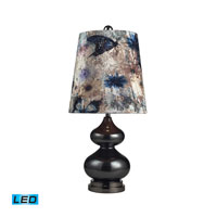 Dimond Lighting Silverdale 1 Light Table Lamp in Grey Glass And Black Nickle 111-1099-LED