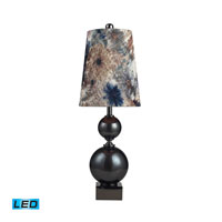 Dimond Lighting Silverdale 1 Light Table Lamp in Grey Glass And Black Nickle 111-1100-LED
