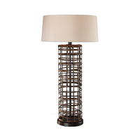 Dimond Lighting Hillbray 1 Light Table Lamp in Rattan 111-1112