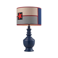Dimond Lighting Patriotic 1 Light Table Lamp in Dark Blue 111-1116
