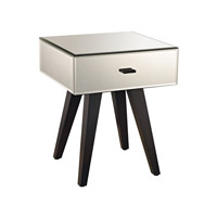 Lazy Susan by Dimond Lighting Modern Leg Mirror Side Table in Mirror and Arabica 1114-152