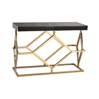 Lazy Susan by Dimond Lighting Deco Desk in Gold Plate and Black 1114-169