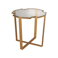 Lazy Susan by Dimond Lighting Cutout Top Side Table in Gold Leaf 1114-173