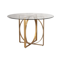 Lazy Susan by Dimond Lighting Box Rings Entry Table in Gold Leaf 1114-178