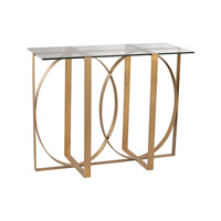 Lazy Susan by Dimond Lighting Box Rings Console Table in Gold Leaf 1114-179