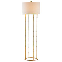 Brunei 64 inch 60 watt Gold Leaf Floor Lamp Portable Light