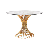 Dimond Flaired Rope Table in Gold Leaf & Clear 1114-203