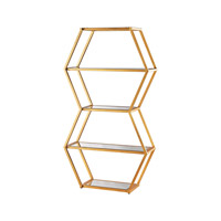 Dimond Vanguard Shelf in Gold Leaf & Clear 1114-208
