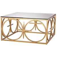 Dimond Lighting Amal Coffee Table in Antique Gold Leaf 1114-219
