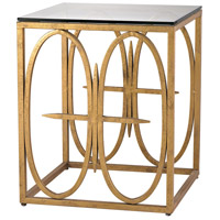 Dimond Lighting Amal Side Table in Antique Gold Leaf 1114-221