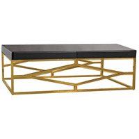 Beacon Towers 48 X 26 inch Gold,Black Coffee Table Home Decor
