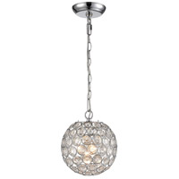 Luminary 1 Light 8 inch Chrome Mini Pendant Ceiling Light