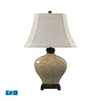 Dimond Lighting Normandie 1 Light Table Lamp in Sky Valley With Bronze 113-1132-LED