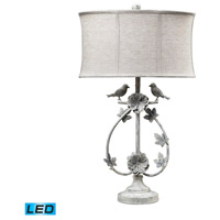 Saint Louis Heights 31 inch 13.5 watt Antique Whte Table Lamp Portable Light in LED