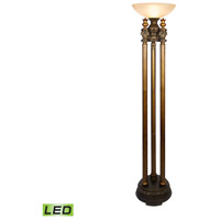 Dimond Lighting 113-1135-LED Athena 72 inch 13.5 watt Athena Bronze Torchiere Portable Light in LED photo thumbnail